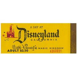 1956 Disneyland Ticket Book.