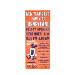 """New Year's Eve Party at Disneyland"" Ticket."
