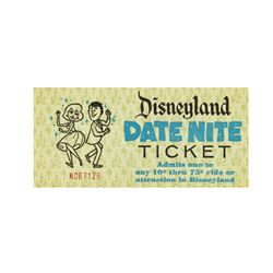 "Disneyland ""Date Nite"" Attraction Ticket."