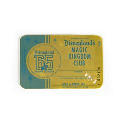 Magic Kingdom Club Membership Card.