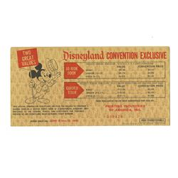 Disneyland Convention Exclusive Discount Certificate.