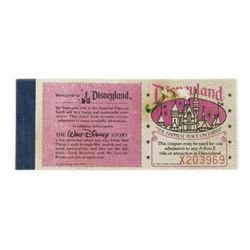 "Unused Disneyland ""Courtesy Guest"" Ticket Book."
