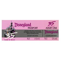 Disneyland 35th Anniversary Complimentary Passport.