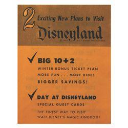 1957 Disneyland Gate Flyer.
