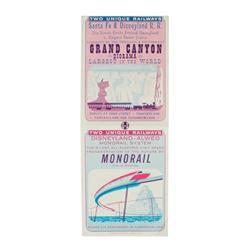 """Grand Canyon Diorama"" & ""Monorail"" Gate Flyer."