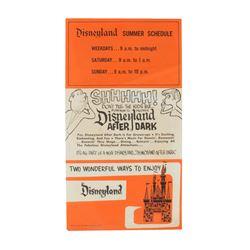 """Disneyland Gate Flyer with """"Disneyland After Dark"""" Ad."""
