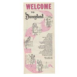 """Welcome to Disneyland"" Main Gate Flyer."