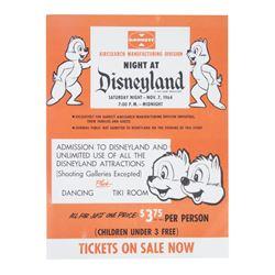1964 Disneyland Ticket Flyer.
