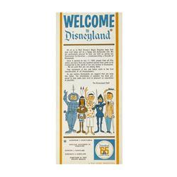 """Welcome to Disneyland"" Gate Flyer."
