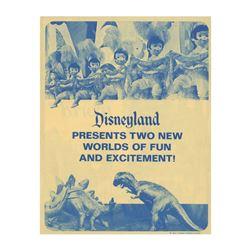"Disneyland ""Two New Worlds of Fun"" Gate Flyer."