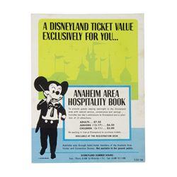 "Disneyland ""Hospitality Book"" Ticket Offer Flyer."