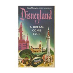 "1955 Disneyland ""A Dream Come True"" Brochure."