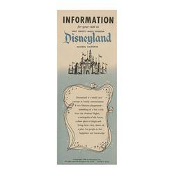 1956 Disneyland Information Brochure.