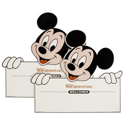 Pair of Magic Kingdom Club Welcome Cards.