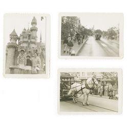 Collection of (3) Vintage Original Disneyland Photos.
