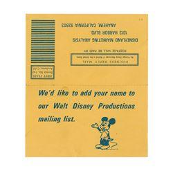 Disneyland Marketing Analysis Card.
