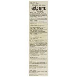 "Disneyland's ""Second Annual Grad Nite"" Gate Flyer."
