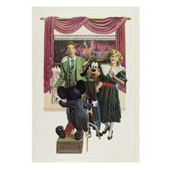 "Charles Boyer Signed ""Grad Nite"" Lithograph."