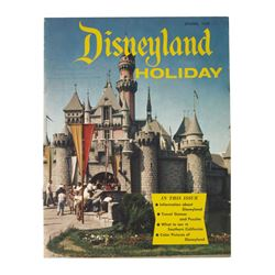 "First Issue of ""Disneyland Holiday"" Magazine."