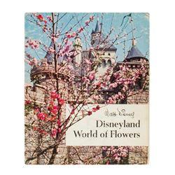 """Disneyland World of Flowers"" Hardcover Book."