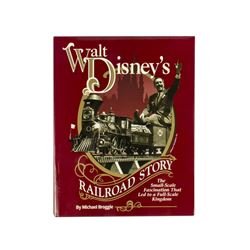 """Walt Disney's Railroad Story"" Signed Hardcover."