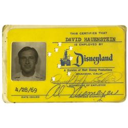 Disneyland Employee Identification Card.
