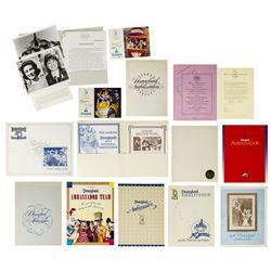 Collection of Disneyland Ambassador Program Documents.