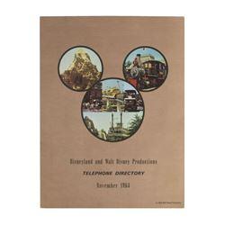 Walt Disney Prod. & Disneyland Telephone Directory.