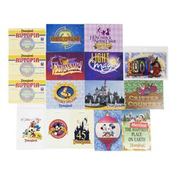 Collection of (16) Disneyland Info & Lanyard Cards.