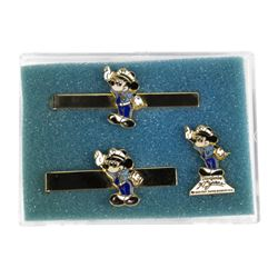 Disneyland Security Guard Tie Bars & Pin.