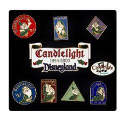 """Disney Employee Choir Set of (9) """"Candlelight"""" Pins."""