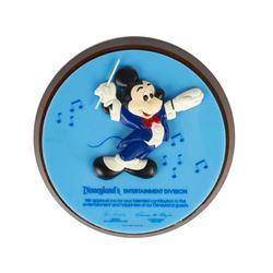 Disneyland Cast Member Entertainment Division Plaque.