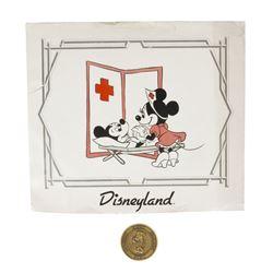 Nurse Minnie Cast Member Coin & Print.