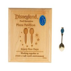 """Plaza Pavilion"" Cast Member Plaque & Spoon."