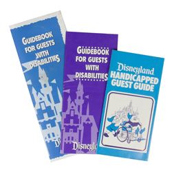 "Collection of (3) ""Guests with Disabilities"" Booklets."