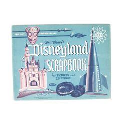 Unused 1955 Disneyland Scrapbook.