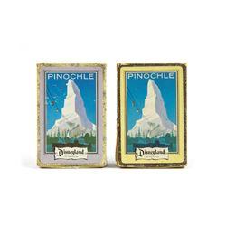 Pair of Disneyland Souvenir Pinochle Card Decks.