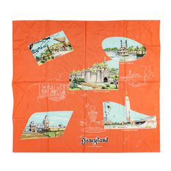 Disneyland Five Lands Orange Scarf.