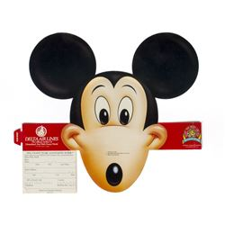 Delta Air Lines Mickey Mouse Paper Hat.