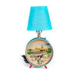 Disneyland Tin-Litho Drum Lamp.