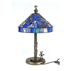 Mickey & Minnie Limited Edition Stained Glass Lamp.