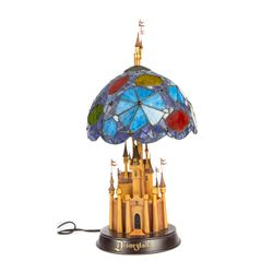 """Fantasy in the Sky"" Limited Ed Stained Glass Lamp."