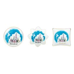 Collection of (3) Tinker Bell & Castle Dishes.