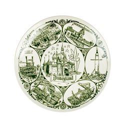 Disneyland Lands & Attractions Souvenir Plate.