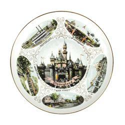 Disneyland 5 Lands Souvenir Plate.