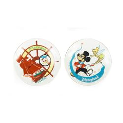 Pair of Disneyland Ceramic Character Plates.