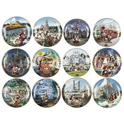 Complete Set of (12) Disneyland 40th Anniv Plates.