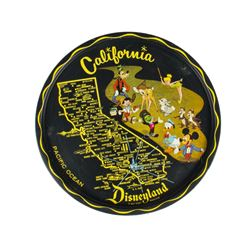 Disneyland Souvenir California Map Tray.