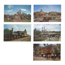 Collection of (5) Early Disneyland Postcards.