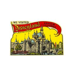 """We Visited Disneyland"" Sticker Reproduction."